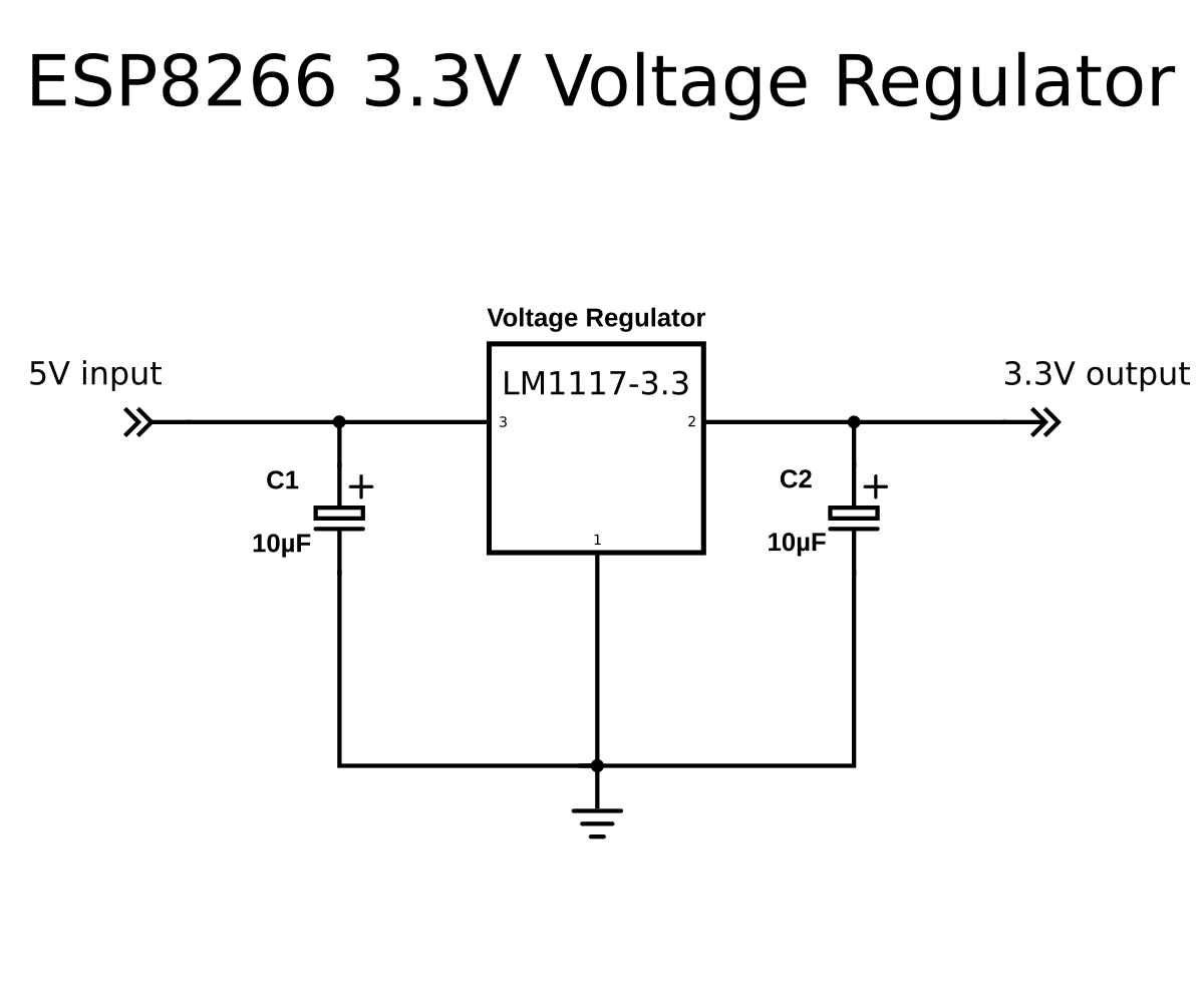 A Beginners Guide To The Esp8266 Connects For Example Simple Power Regulator From Mains Vreg